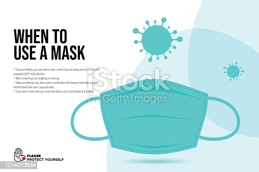istock Wuhan Virus Disease vector icon with face mask. China Novel Coronavirus Disease concept design stock illustration. Covid-19 Vector Template 1214070534