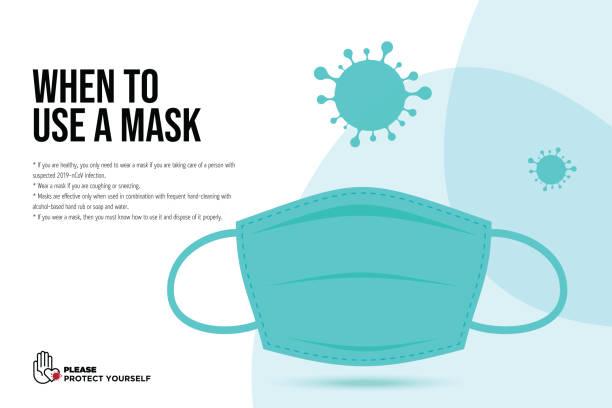 顔のマスクを持つ武漢ウイルス病のベクターアイコン。中国小説コロナウイルス病のコンセプトデザインストックイラスト。covid-19 ベクトルテンプレート - マスク点のイラスト素材/クリップアート素材/マンガ素材/アイコン素材