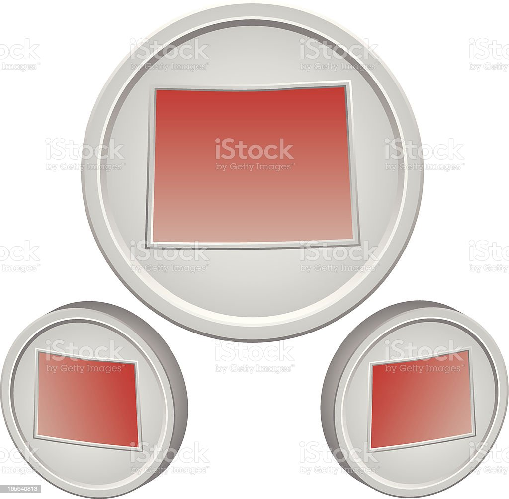 Wyoming Button royalty-free wyoming button stock vector art & more images of icon