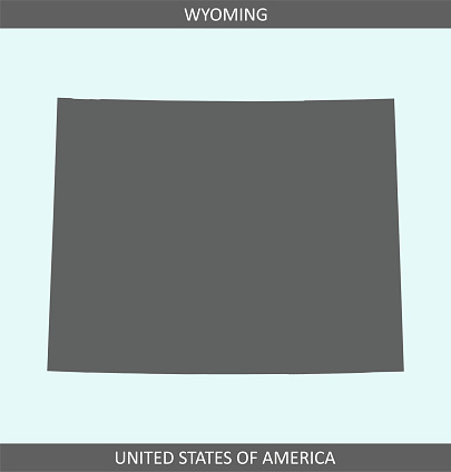 Wyoming map outline