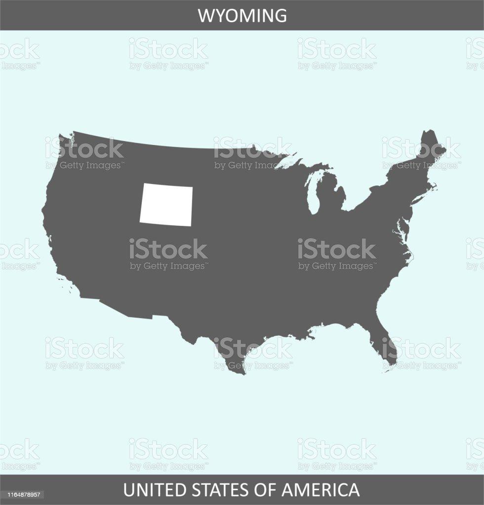 Wyoming Map Usa Printable Stock Illustration - Download ...