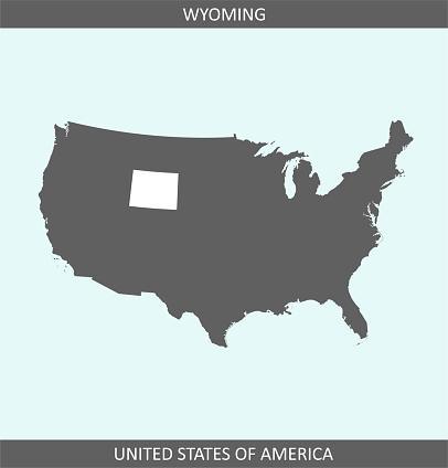 Wyoming map USA printable
