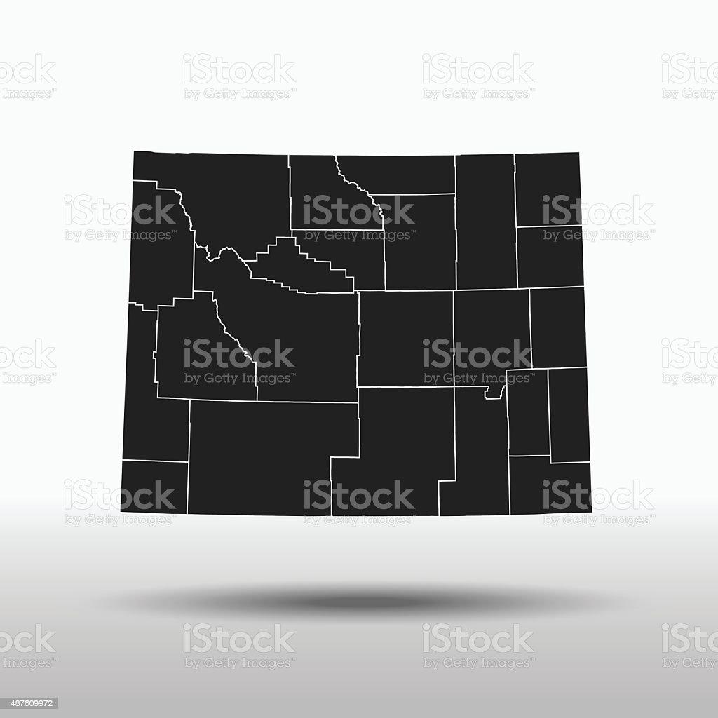 Wyoming Map vector art illustration