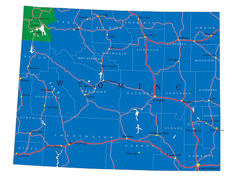 Wyoming state political map