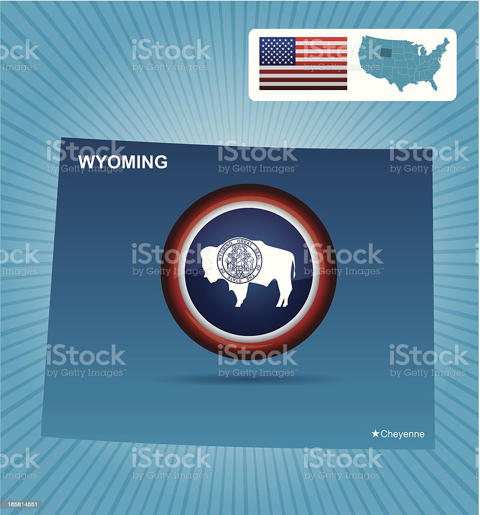 Wyoming state royalty-free stock vector art