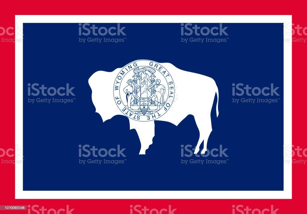 Vector bandeira de Wyoming. Ilustração em vetor. Estados Unidos de Ameri - ilustração de arte em vetor
