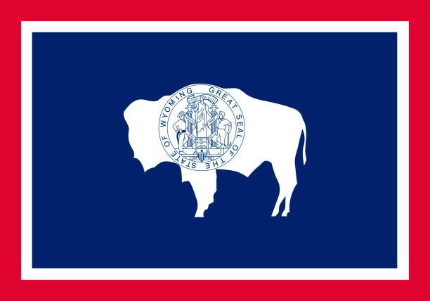 ilustrações, clipart, desenhos animados e ícones de vector bandeira de wyoming. ilustração em vetor. estados unidos de ameri - bandeira union jack