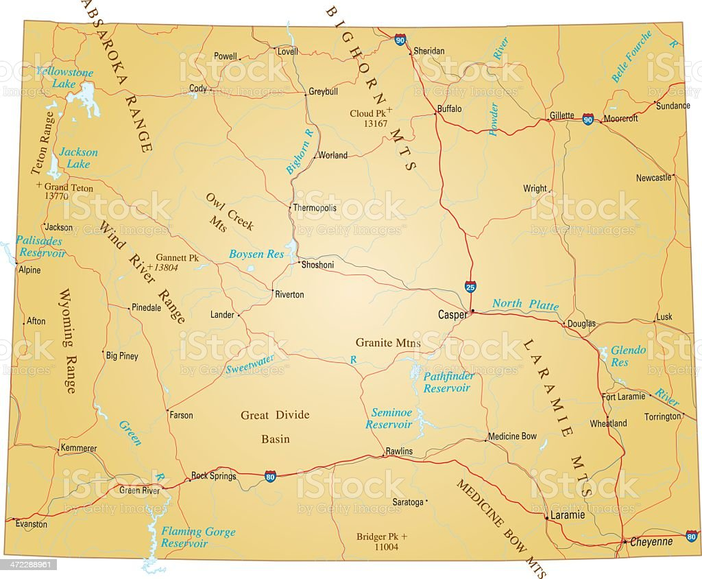 Wyoming royalty-free wyoming stock vector art & more images of city