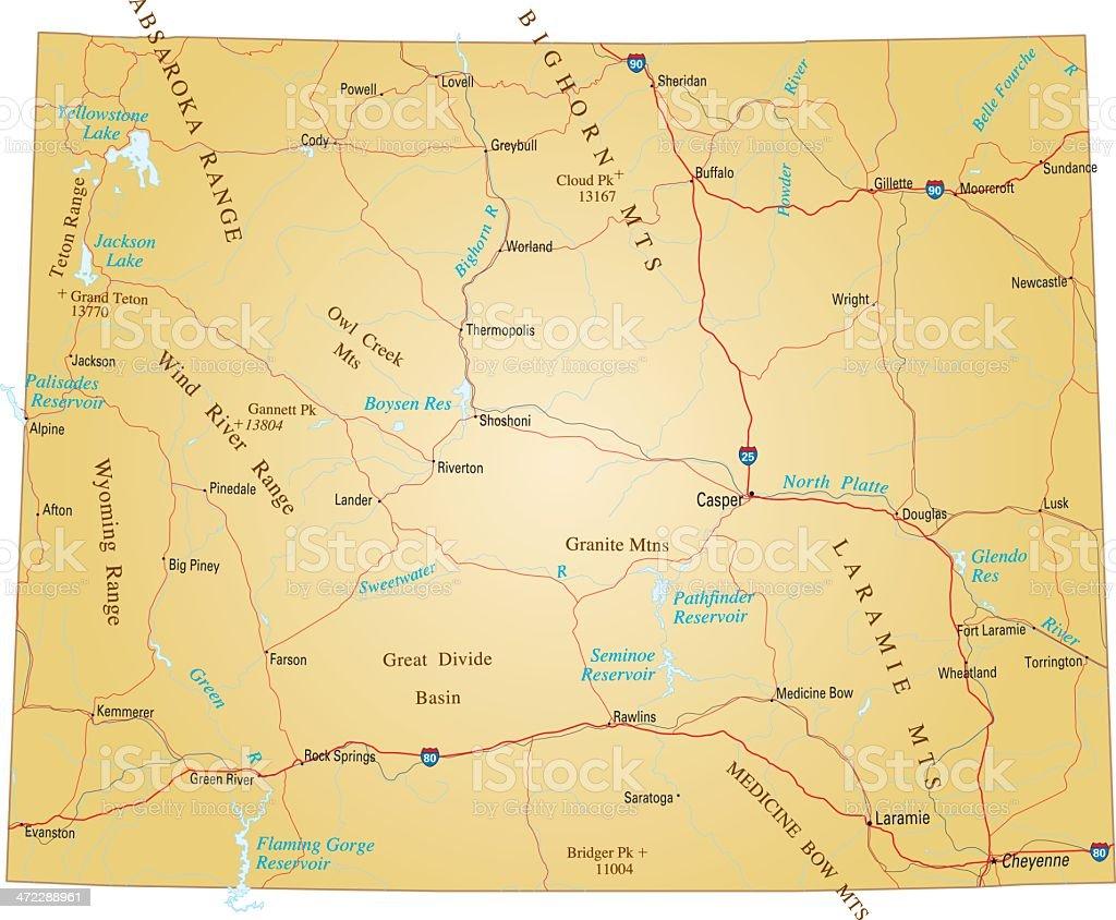 Wyoming vector art illustration