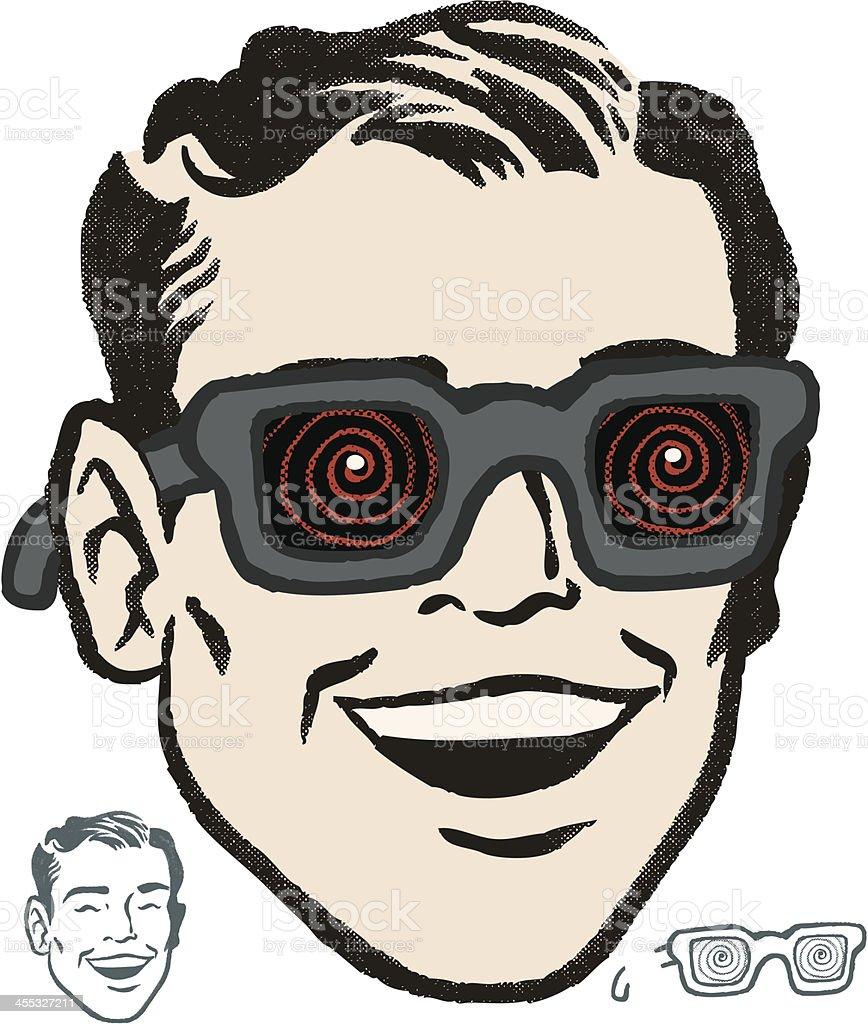 x ray retro vision vector art illustration