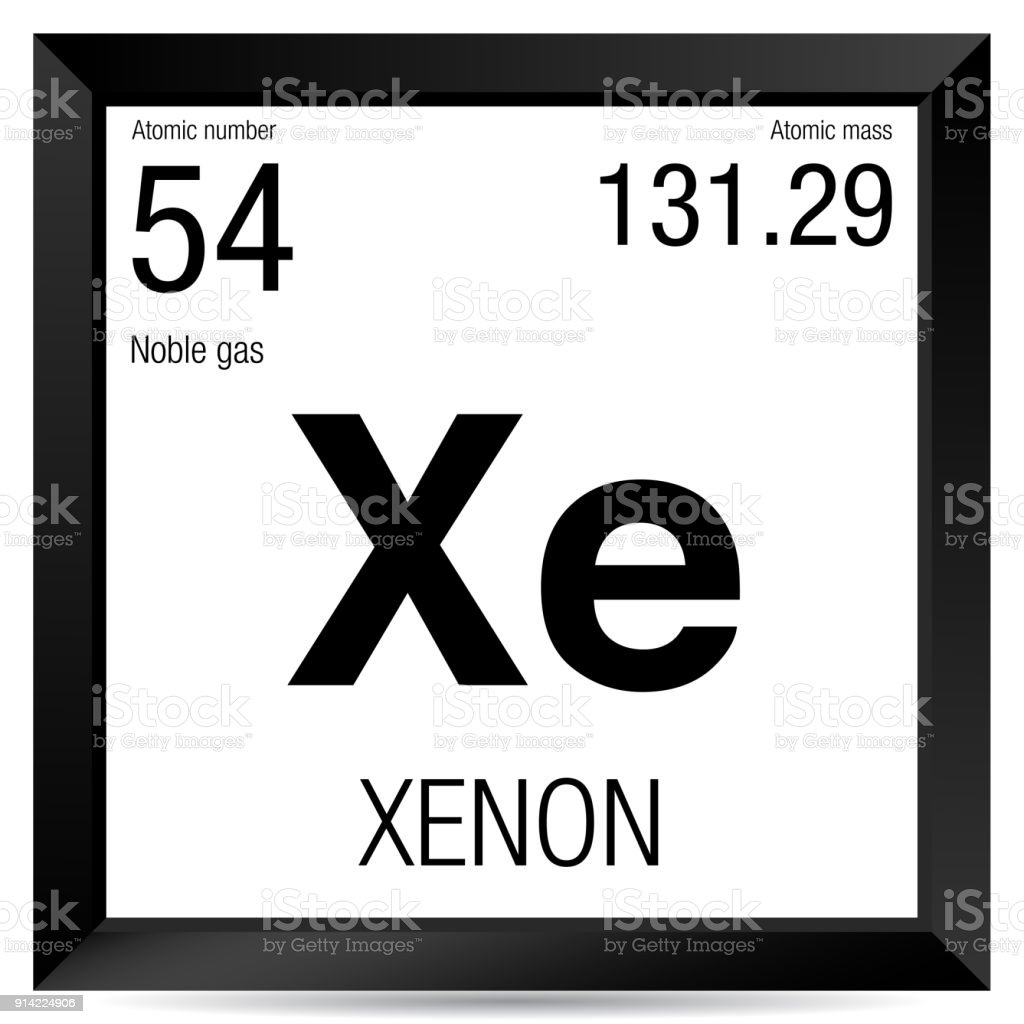 Xenon symbol element number 54 of the periodic table of the elements xenon symbol element number 54 of the periodic table of the elements chemistry royalty urtaz Image collections