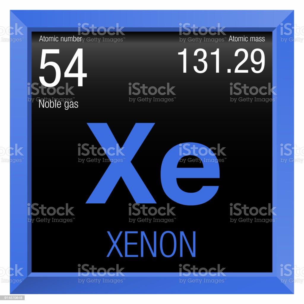 Ilustracin de smbolo de xenn nmero 54 del elemento de la tabla smbolo de xenn nmero 54 del elemento de la tabla peridica de los elementos urtaz Gallery