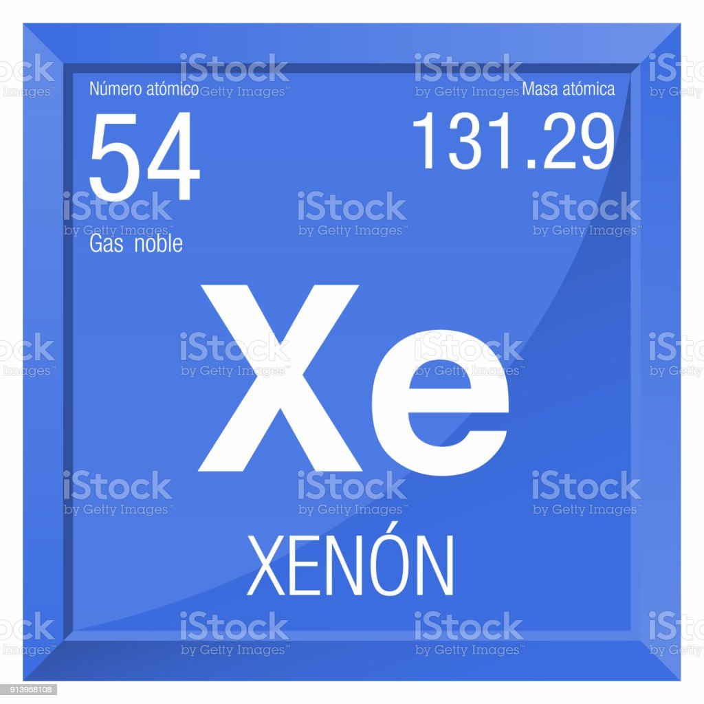 Ilustracin de smbolo de xenon xenon en lengua espaola elemento smbolo de xenon xenon en lengua espaola elemento nmero 54 de la tabla peridica urtaz Gallery