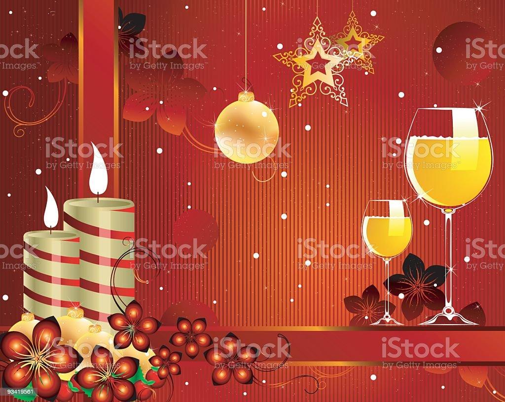 xMas and new year Greetings royalty-free stock vector art