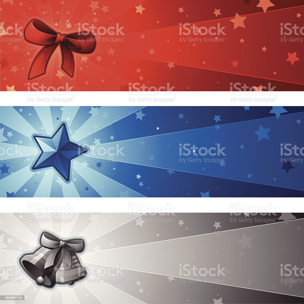 Xmas Banners - 2009 royalty-free xmas banners 2009 stock vector art & more images of advertisement
