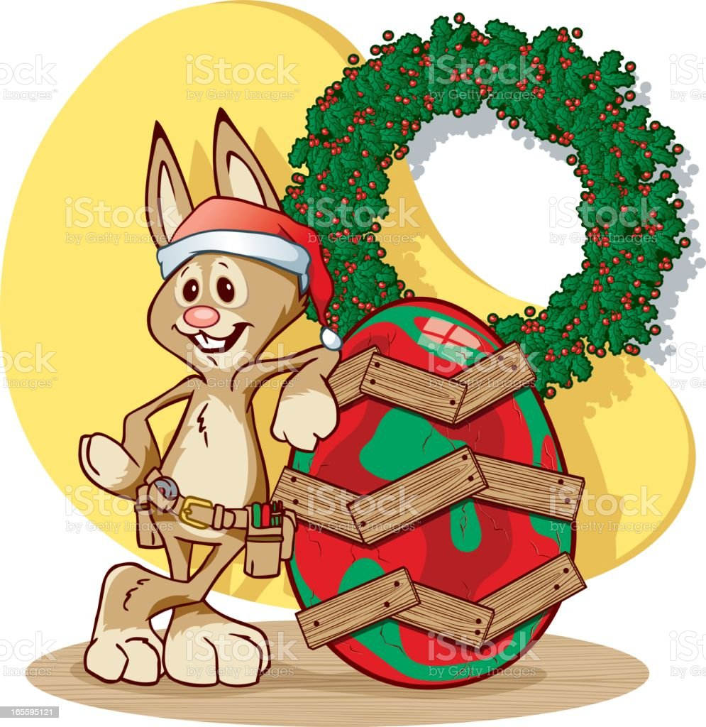 X-Mas Bunny royalty-free xmas bunny stock vector art & more images of carpenter