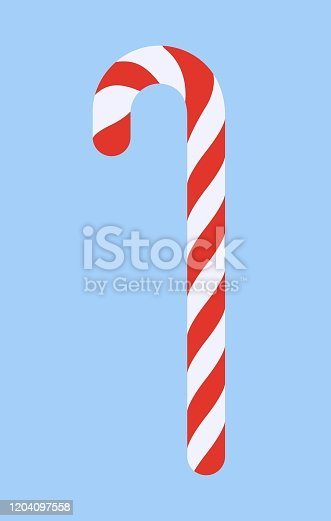istock Xmas candy cane isolated vector illustration 1204097558
