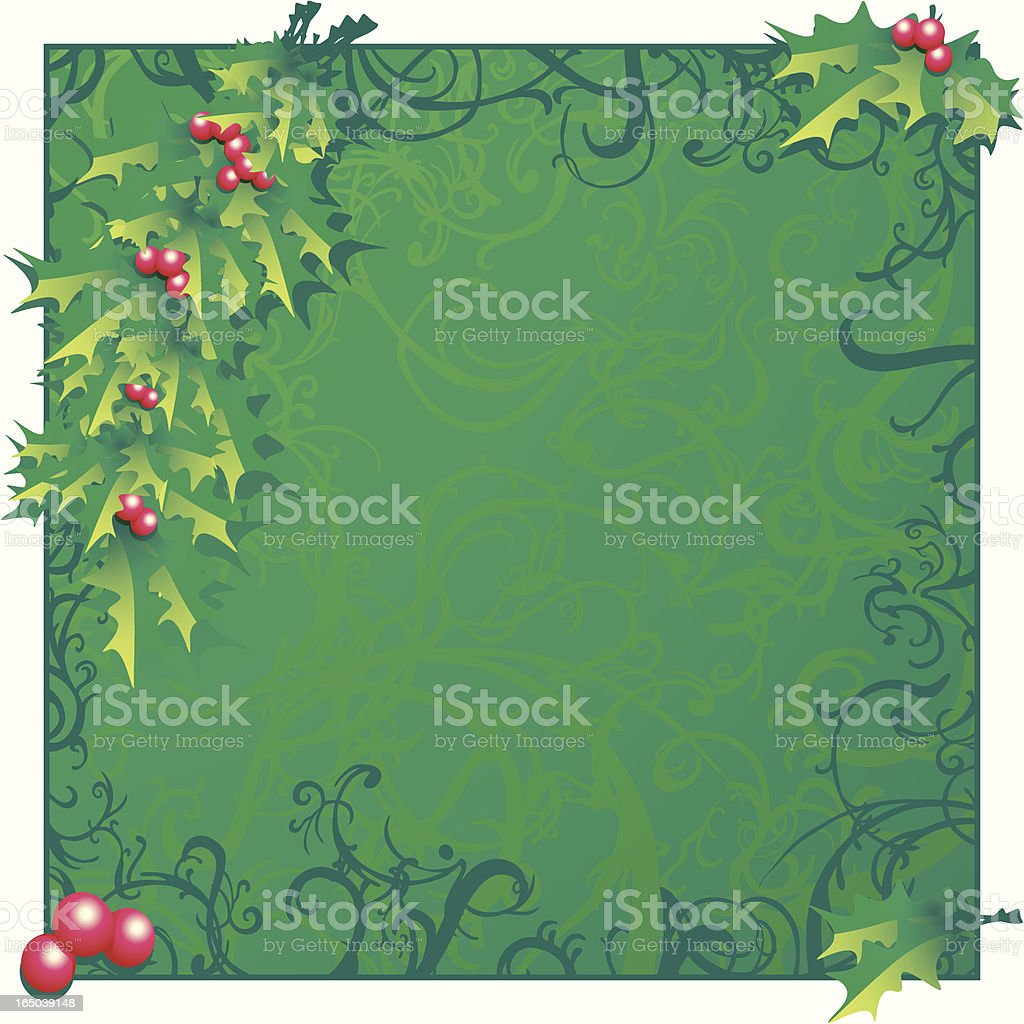 Xmas Frame royalty-free stock vector art