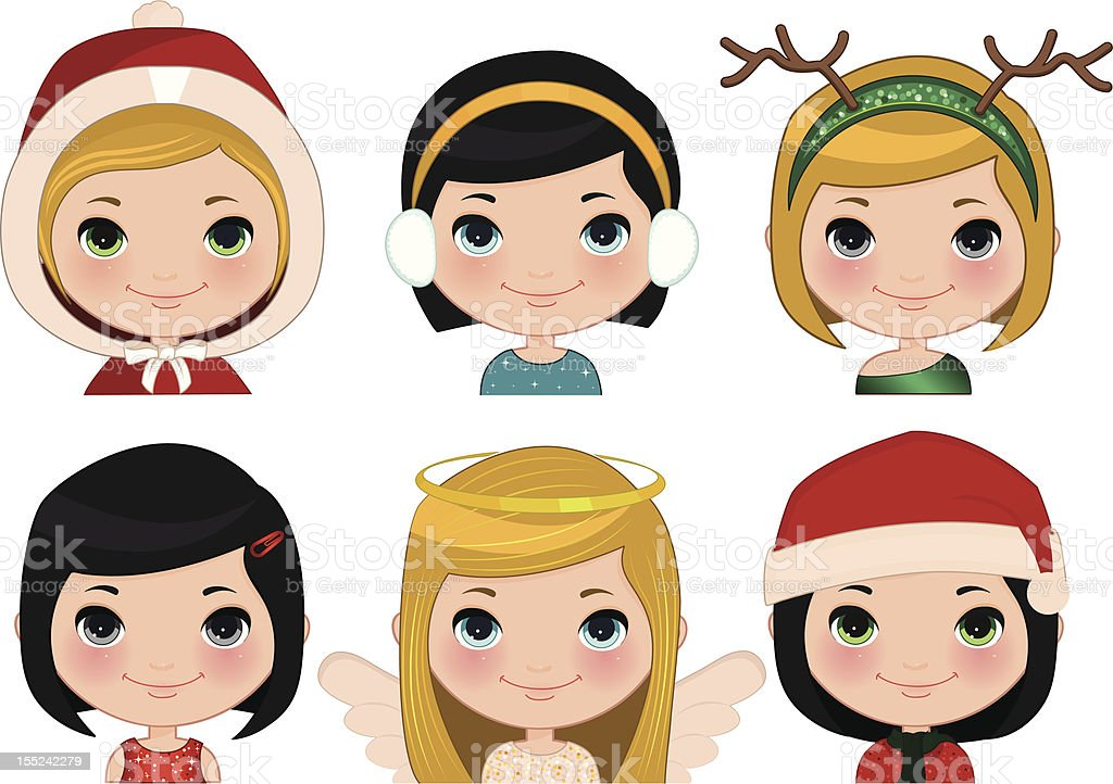 Xmas Girl royalty-free xmas girl stock vector art & more images of angel