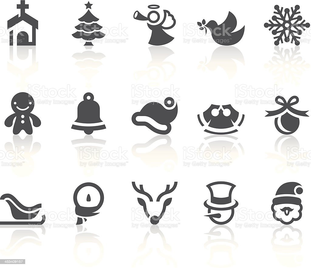 Xmas Icons | Simple Black Series royalty-free stock vector art