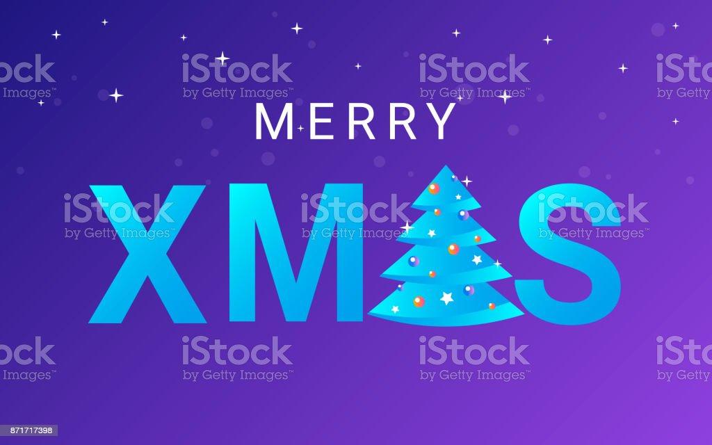 Xmasbriefe Für Weihnachtsfeier Und Grüße Vektorillustration Stock ...