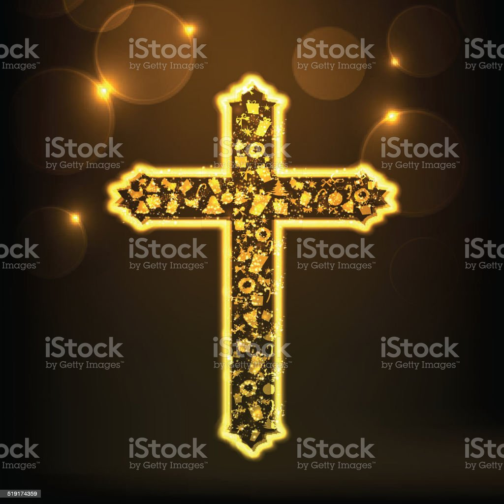 xmas ornaments decorated christian cross for merry christmas celebrations royalty free xmas ornaments decorated - Religious Merry Christmas