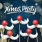 Xmas Party template, Santa moustache