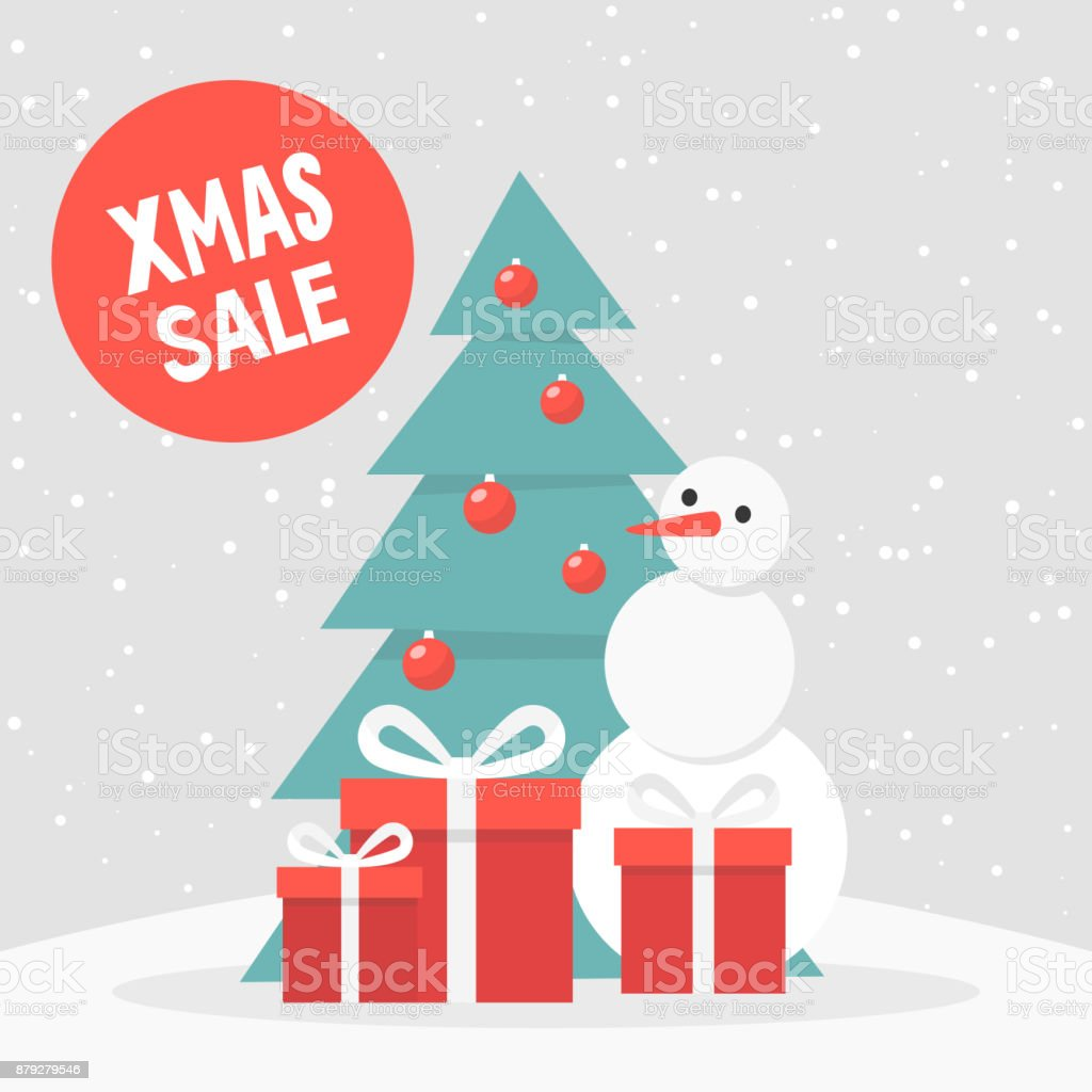 Xmas Sale Winter Discounts Seasonal Special Offer Snowy Forest ...