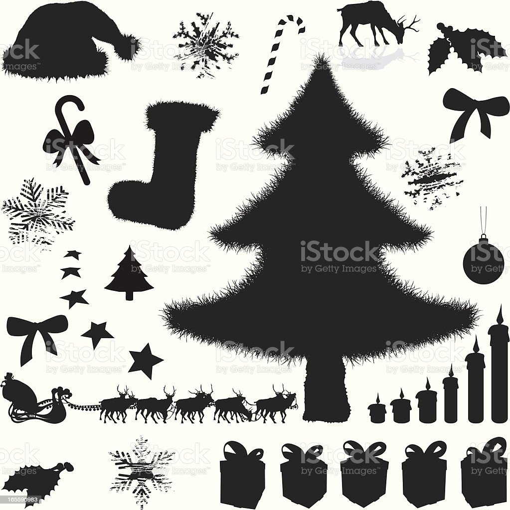 Xmas Silhouettes 2009 royalty-free xmas silhouettes 2009 stock vector art & more images of candle