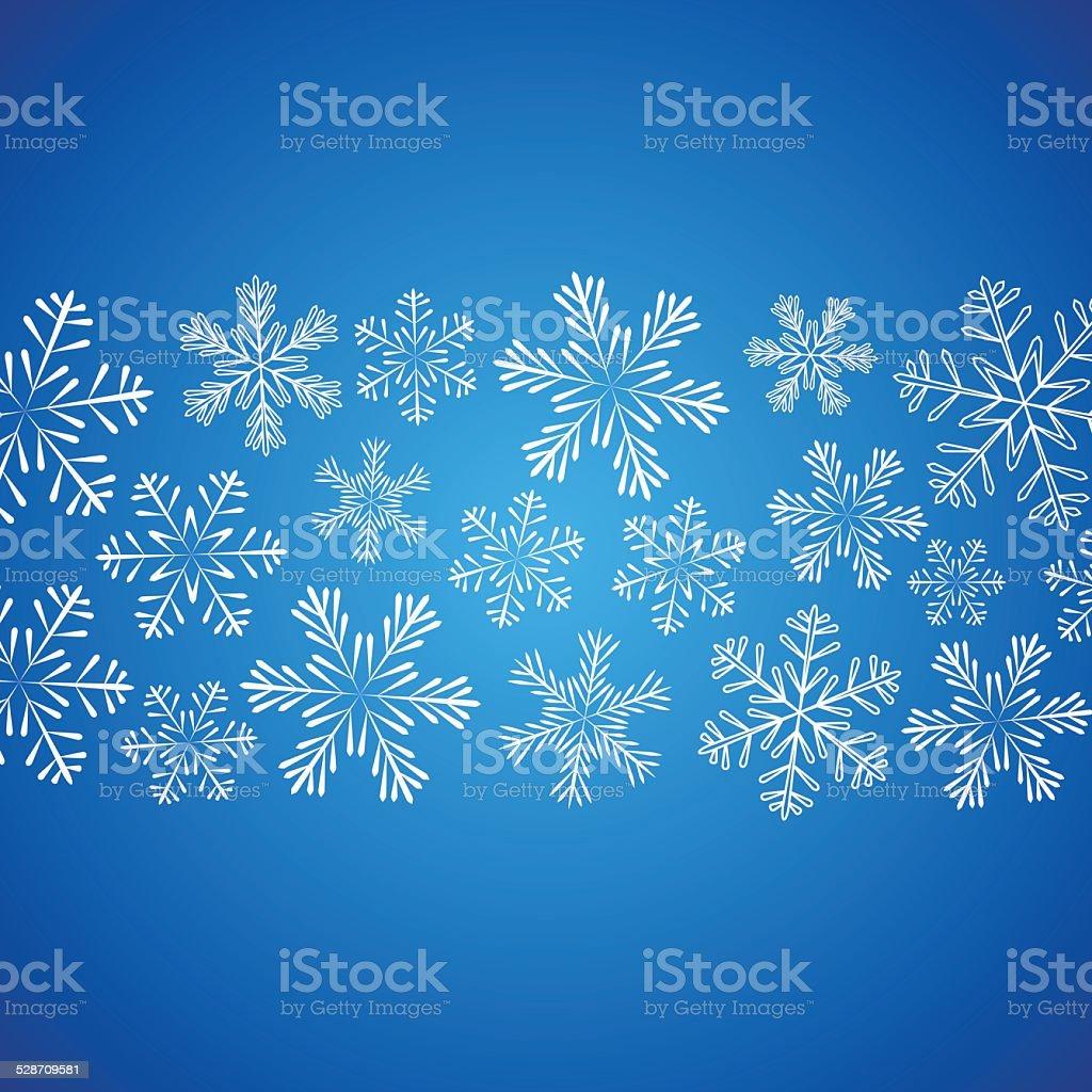 Weihnachten Schneeflocken Hintergrund Für Ihr Design Stock Vektor ...