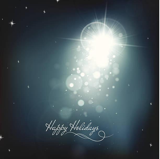 Xmas Star Holiday background vector art illustration