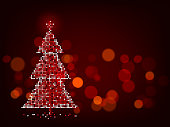 christmas tree design template copy space