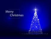 Christmas tree decoration bright lights