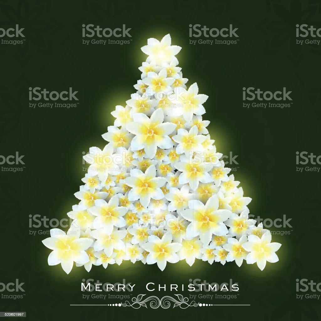 Xmas tree decorated with jasmine flowers for merry christmas xmas tree decorated with jasmine flowers for merry christmas celebrations royalty free xmas tree izmirmasajfo