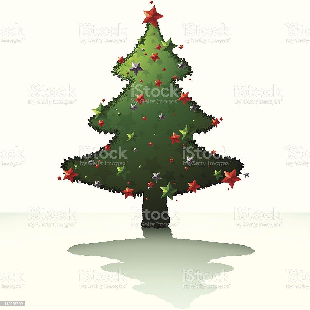 Xmas Tree - Green 2009 royalty-free stock vector art