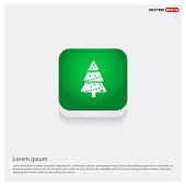 X-Mas Tree Icon Green Web Button