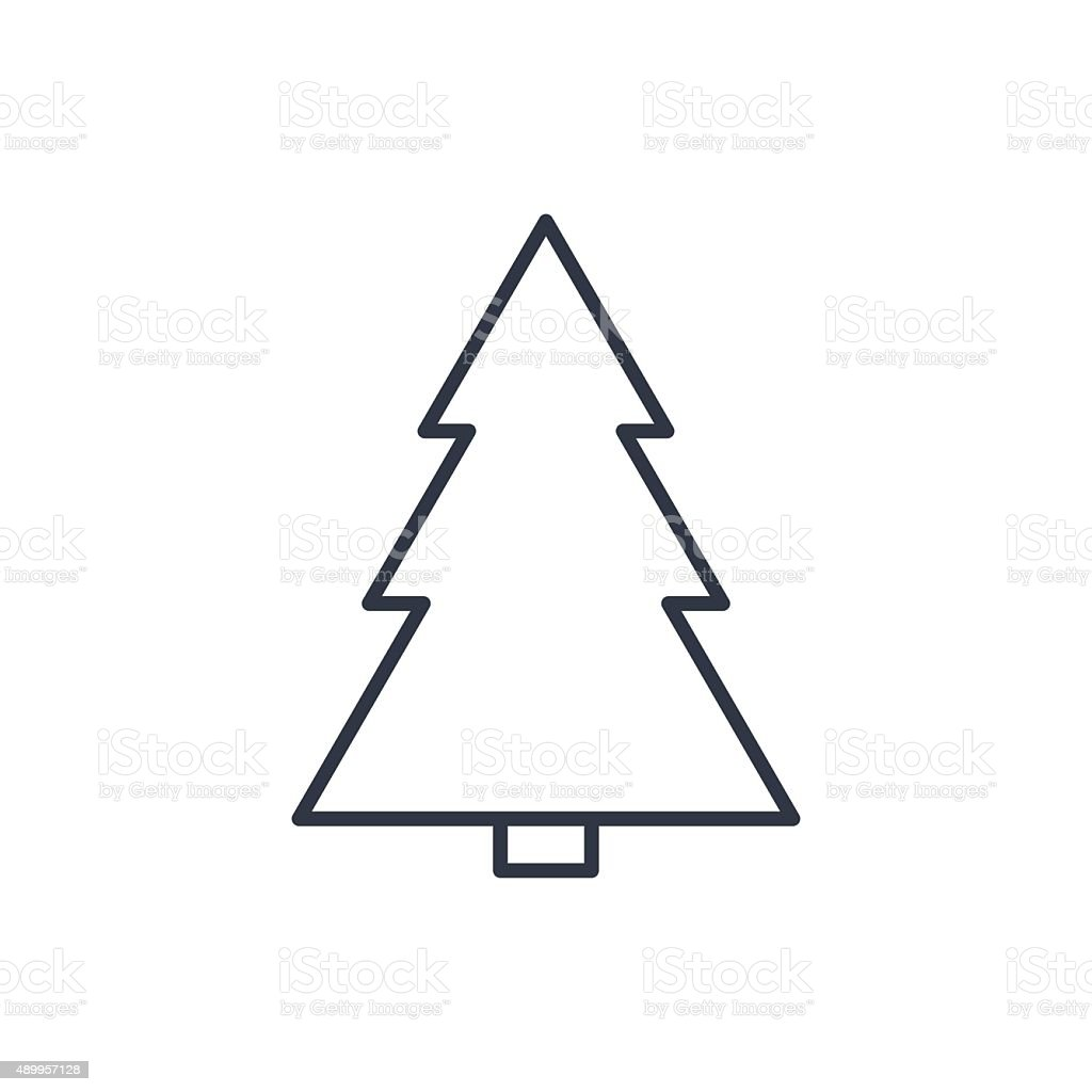 Xmas Tree Outline Icon Stock Vector Art More Images of 2015