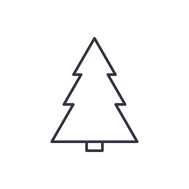 Christmas Tree Clip Art Outline Clip Art Vector Images  - Christmas Tree Outlines