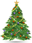 christmas tree design element