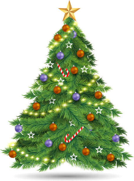 xmas tree christmas tree design element christmas tree stock illustrations