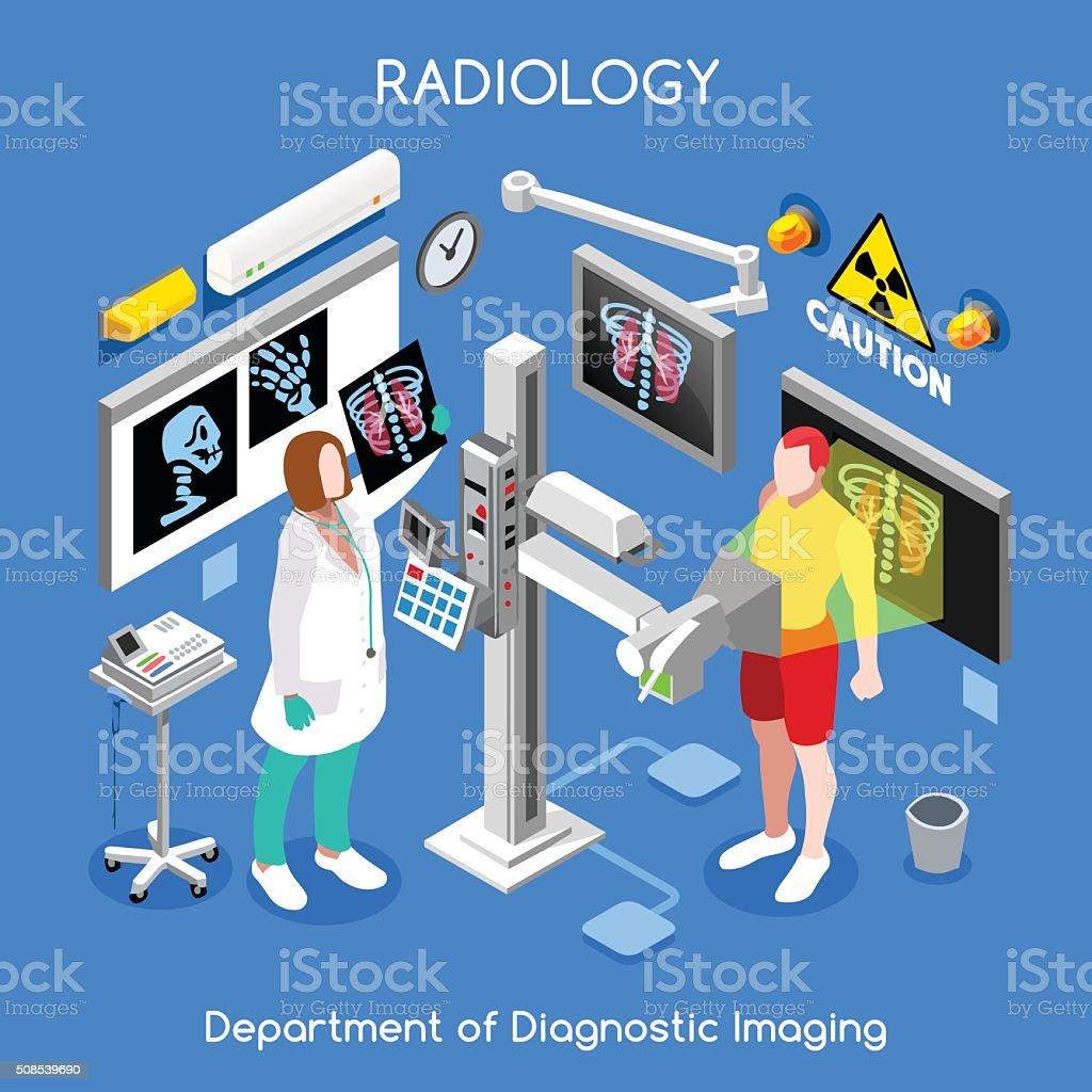 XRay Hospital 01 People Isometric vector art illustration