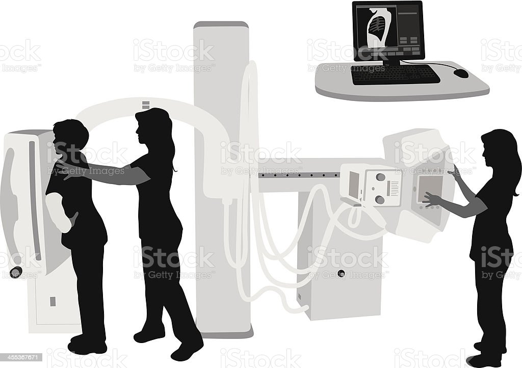 X-rays Vector Silhouette royalty-free stock vector art