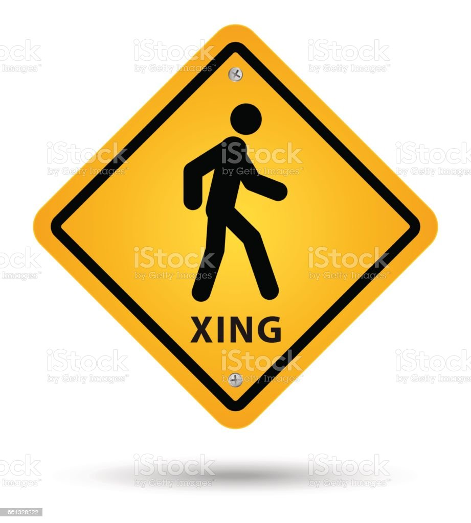 xsing road sign.jpg vector art illustration