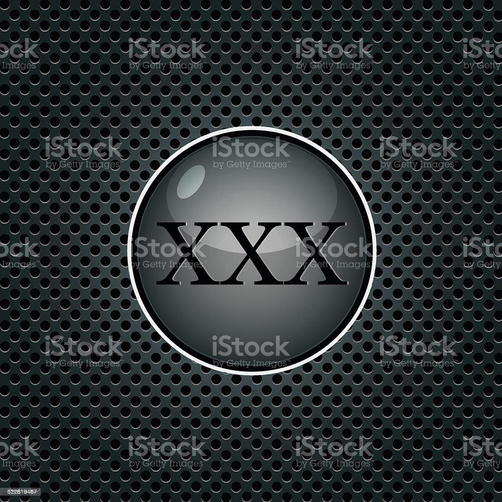 xxx black glossy internet button. vector illustration vector art illustration