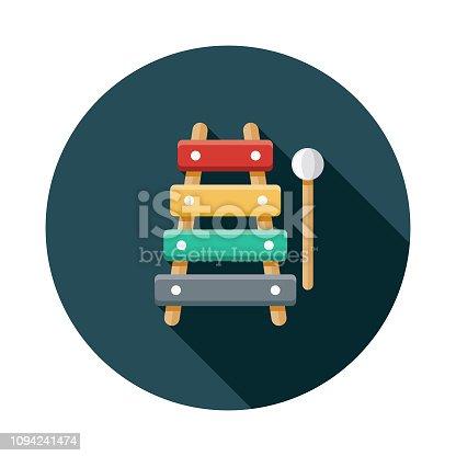 istock Xylophone Children's Toy Icon 1094241474