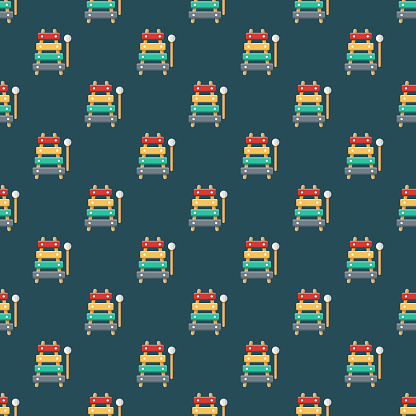 Xylophone Children's Toy Seamless Pattern