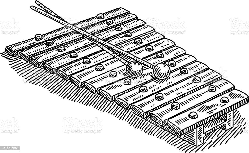 Xylophone drawing