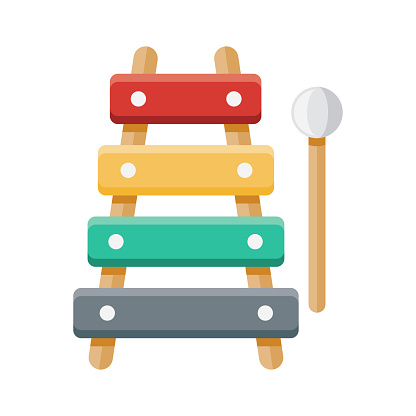 Xylophone Icon on Transparent Background
