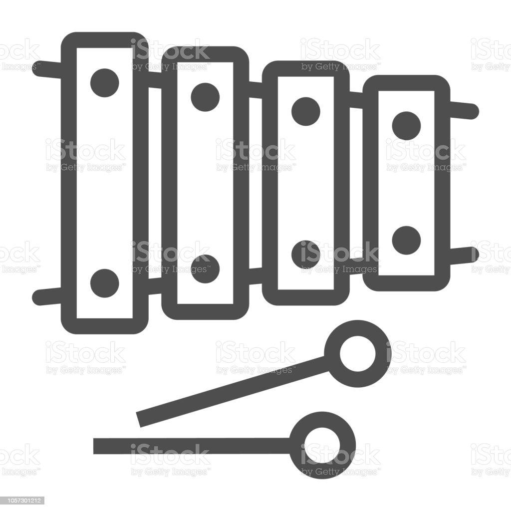 Icone De Ligne Xylophone Musical Et Percussion Signe De Linstrument