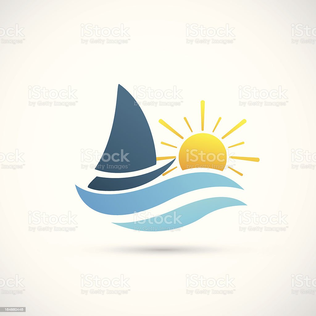 Yacht Icon royalty-free yacht icon stock vector art & more images of abstract